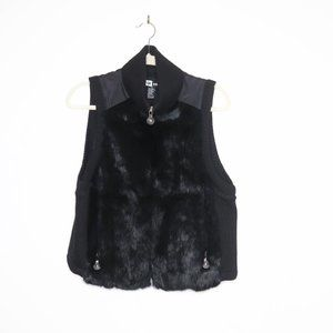 Jamie Sadock | Rabbit Fur Jacket Vest M